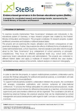 Research Program • SteBis